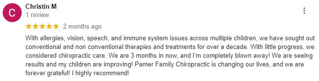 Chiropractic Powell OH Patient Testimonial